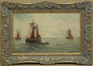 הציור והמסגרת אחרי השיקום