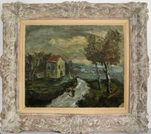 הציור והמסגרת לפני השיקום