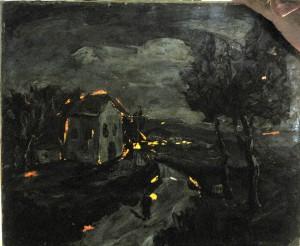 צילום עם אור אחורי -שמראה את אזורי נפילת הצבע